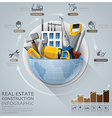 Global Real Estate And Construction Infographic vector image vector image