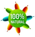 Green eco concept - natural vector image vector image
