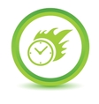 Green Hot clock icon vector image vector image