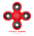 hand fidget spinner stress-relieving toy vector image vector image