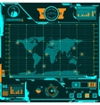 HUD navigation map screen elements vector image