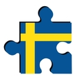 Isolated Swedish flag vector image vector image