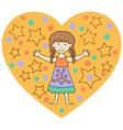 kids heart4 vector image vector image