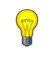 lamp shine pop art vector image vector image