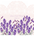 Lavender Card with flowers vector image vector image
