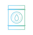 line water tank to environment care vector image vector image
