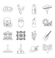 medicine finance art and other web icon in vector image vector image