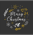 merry christmas background with typography vector image vector image