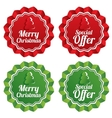 Merry christmas special offer price tags set vector image