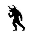 minotaur silhouette ancient mythology fantasy vector image vector image