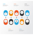 music icons set collection of music control vector image vector image