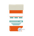 online doctor container pharmacy medicine pills vector image