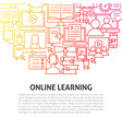 online learning line concept vector image vector image