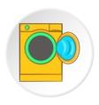 Orange washing machine icon cartoon style vector image vector image