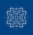ornamental colouring pattern in a snowflake shape