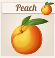 peach fruit cartoon icon series food vector image