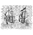 pirates ships battle vector image vector image