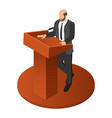 political speaker icon isometric style vector image