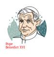 pope benedict xvi portrait vector image