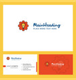 power setting logo design with tagline front and vector image