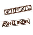 Realistic Coffee Break grunge rubber stamp vector image vector image