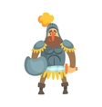 Roman Knight With Shield In Skirt Fairy Tale vector image
