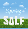 sale poster with green grass vector image vector image
