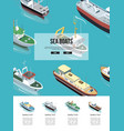 sea boats in the water vector image vector image