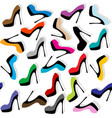 seamless background with high heels shoes vector image vector image