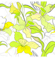 seamless pattern with narcissus flowers vector image vector image