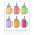 set smoothie vector image