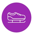 Skate line icon vector image vector image