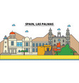 spain las palmas city skyline architecture vector image vector image