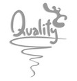 sticker quality vector image vector image