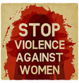 stop violence against women concept vector image vector image
