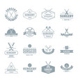 surgery tools logo icons set simple style vector image vector image