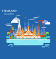 tourist attraction and landmarks in thailand vector image vector image