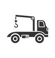 tow truck glyph icon vector image