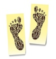 two steps on the stickers vector image vector image