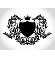 vintage emblem with shield and crown vector image vector image