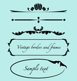 vintage frames borders text dividers vector image vector image