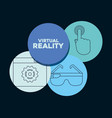 virtual reality design vector image