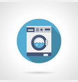 washing clothes flat round icon vector image vector image