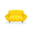 yellow cozy sofa living room furniture interior vector image