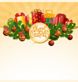 christmas gift in decorated boxes vector image