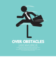 Businessman Jump Over The Obstacles Symbol vector image