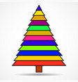 abstract christmas tree of colorful stripes vector image vector image