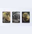 abstract cover template set with 3d silver and vector image vector image