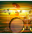 abstract green blur music background with drum kit vector image vector image