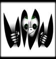 alien signufo in dark vector image vector image